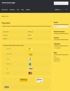 postfinance payment page template